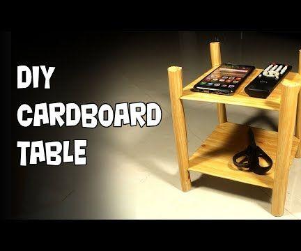 DIY Cardboard Table