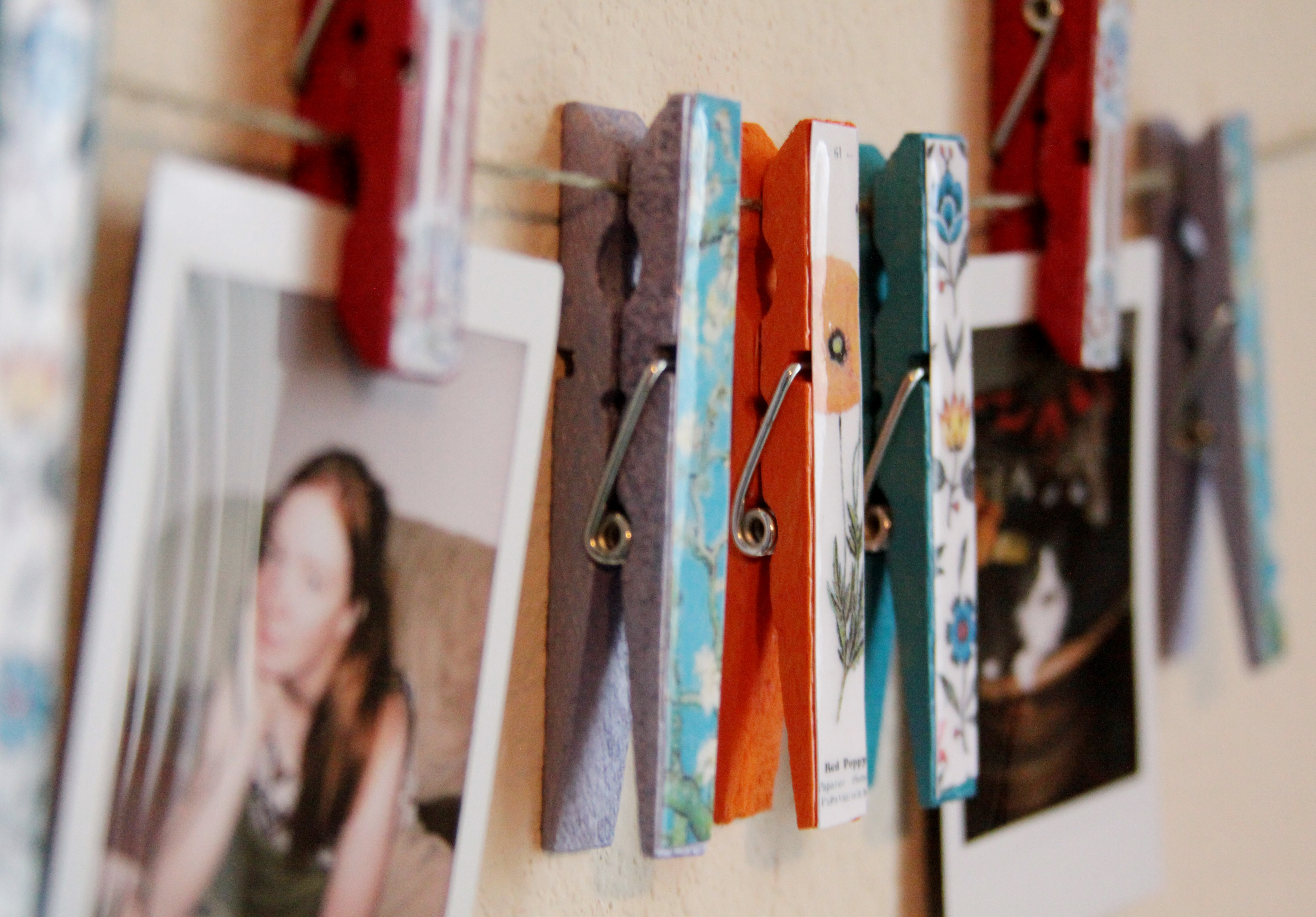 Spring in Winter: Clothing Pin Art