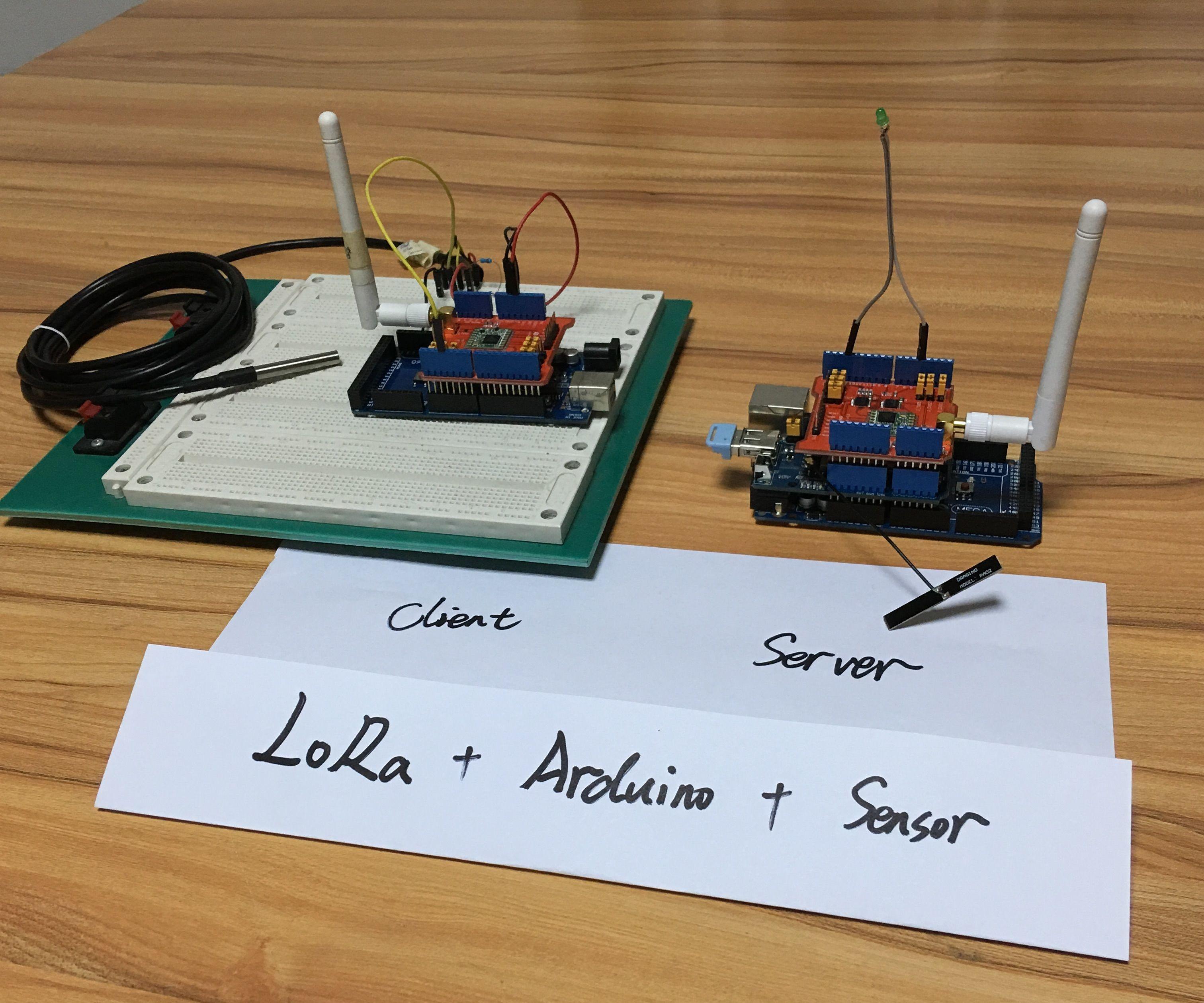How to get sensor data from a remote Arduino via Wireless Lora Protocol
