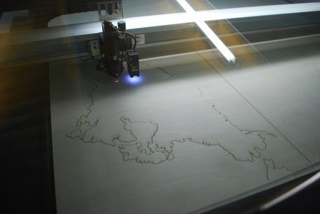 Step 3: Lasercut the Continents