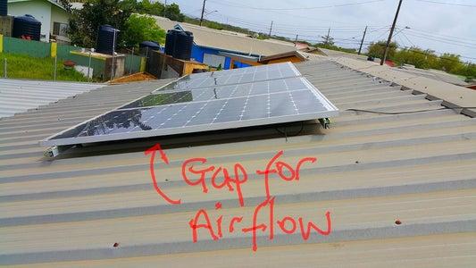 Installing the Solar Panels.
