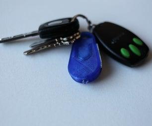 3D Printed LED Keychain Light (x5)