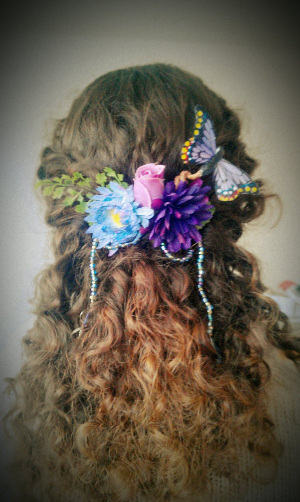 Make Your Own Floral Faerie Hair Ornament! Great for Weddings and Costumes.