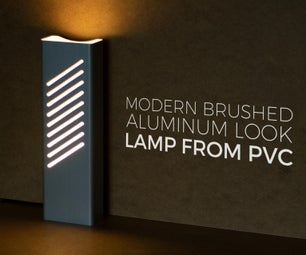 Modern Brushed-Aluminum-Look Tower Lamp From PVC