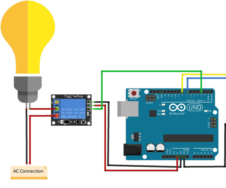 Interfacing the GSM and Arduino Uno to Controll the AC Bulb Through SMS