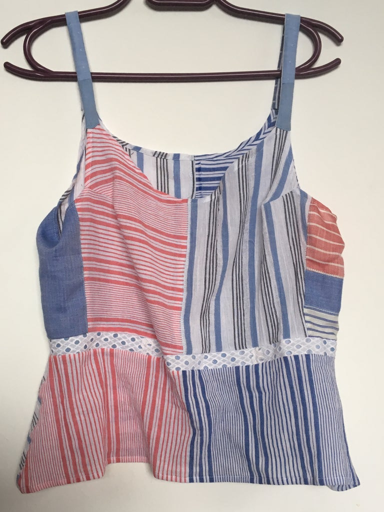 Patchwork Summer Top From Upcycled Fabrics