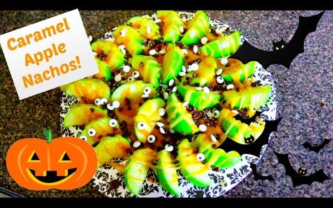 Caramel Apple Nachos! Halloween Recipe!