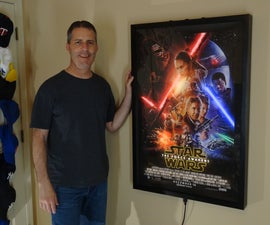 The Force Awakens Animated LED Backlit Movie Poster With Rainbow Mode