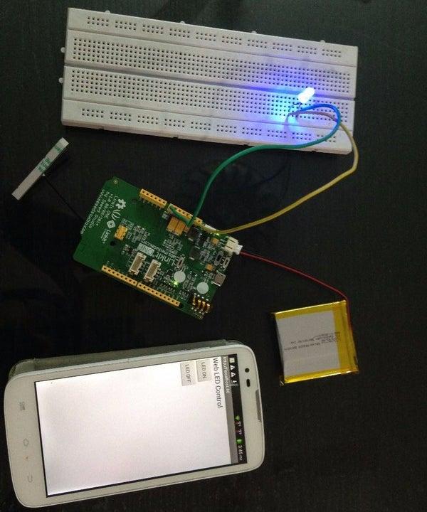 LinkitONE Web Controlled LED