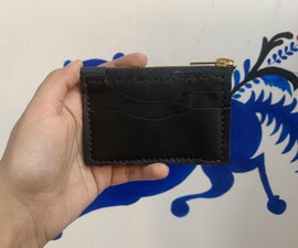 Zippered Leather Card Wallet (with Free Pattern)
