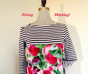 Make a New Top Out of a Boat Neck Tee!