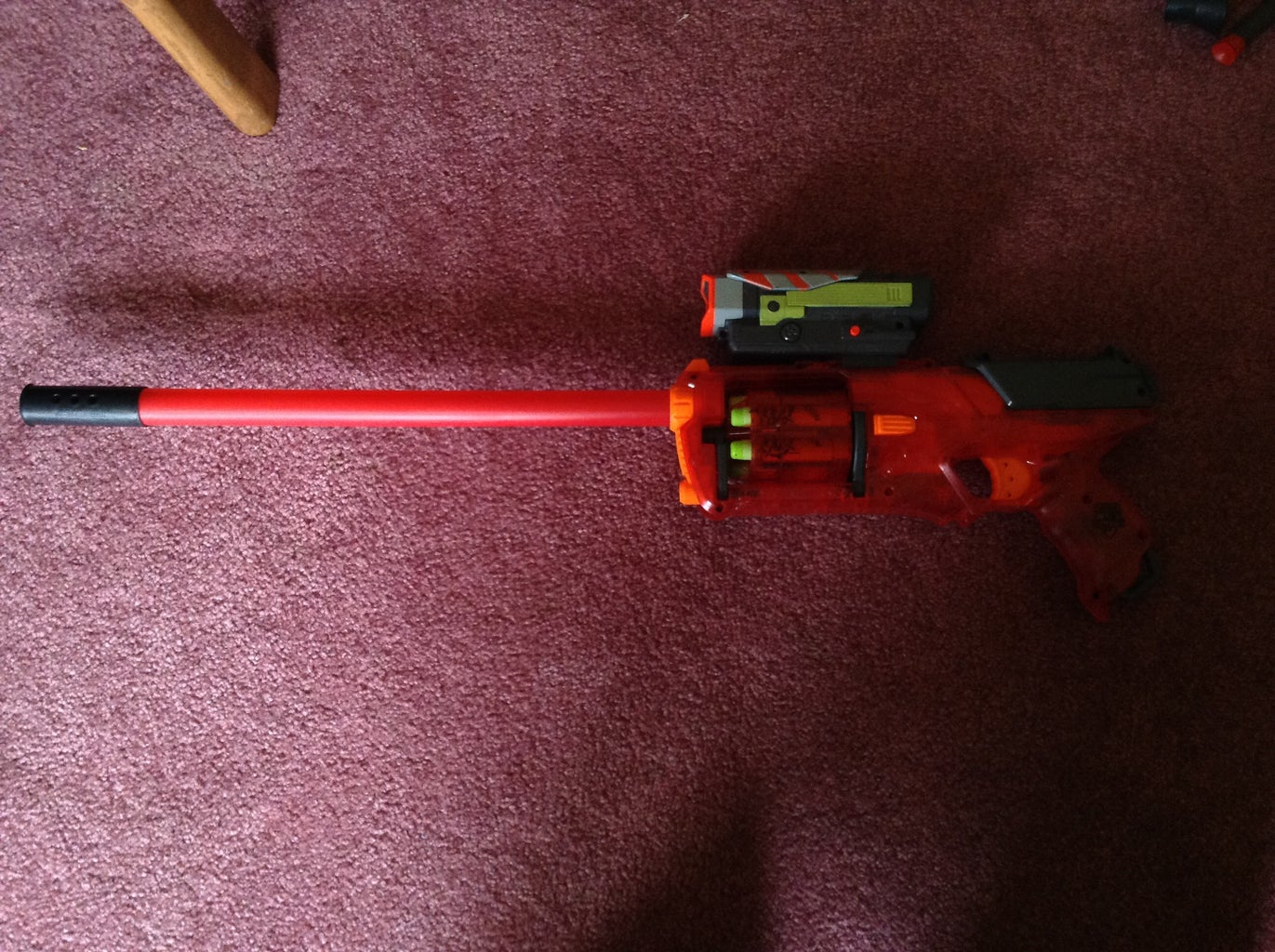 Add the Nitron Scope to the Top and Load the Darts.