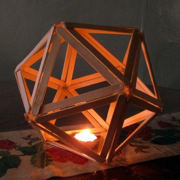 Popsicle Stick Icosahedron