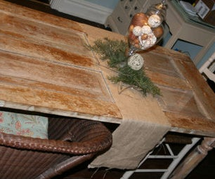 Trash to Treasure: an Old Wooden Door Picked From the Trash Becomes a Dinning Room Table