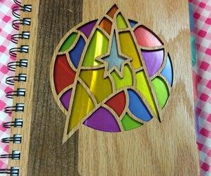 星际迷人彩色玻璃笔记本