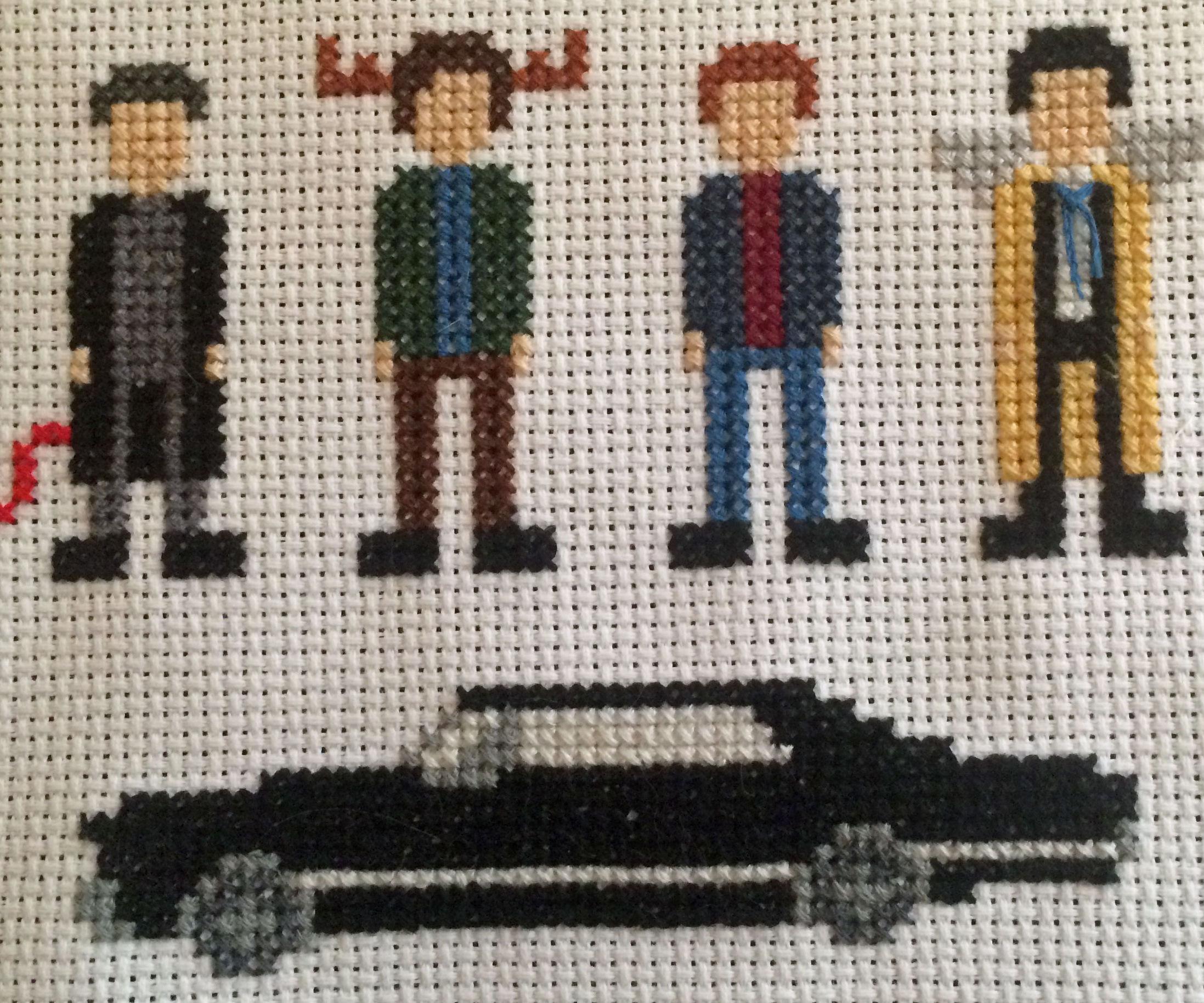 Supernatural Cross Stitch: Team Free Will (+ Crowley)