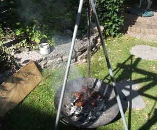 Campfire Barbecue Tripod