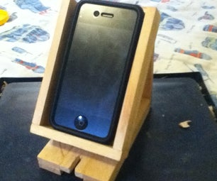 Make Your Own IPhone 4 Wooden Dock / Stand!