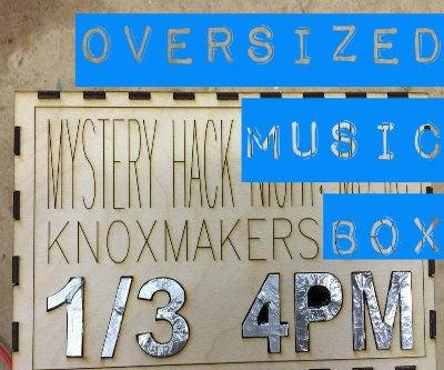 Oversized Music Chest, for MaKey MaKey