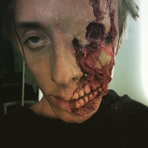 Torn Face With Exposed Jaw/bone - SFX Makeup Tutorial