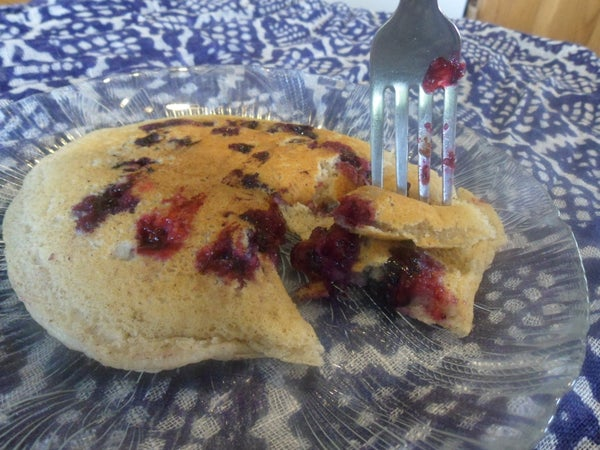 Home-Alone Single Blueberry Pancake