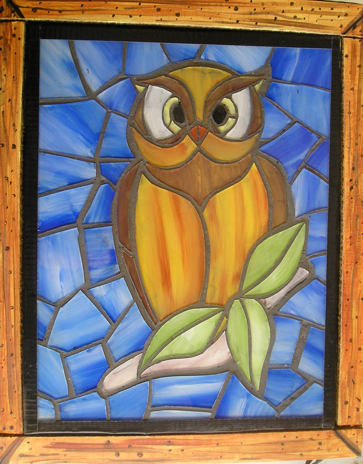 Faux Stained Glass Owl