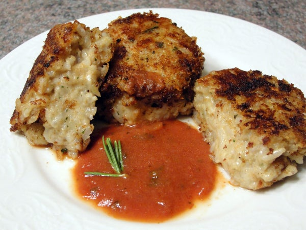 Italian Vegan Rice Patties
