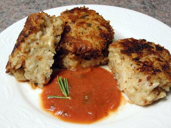 Italian Vegan Rice Patties