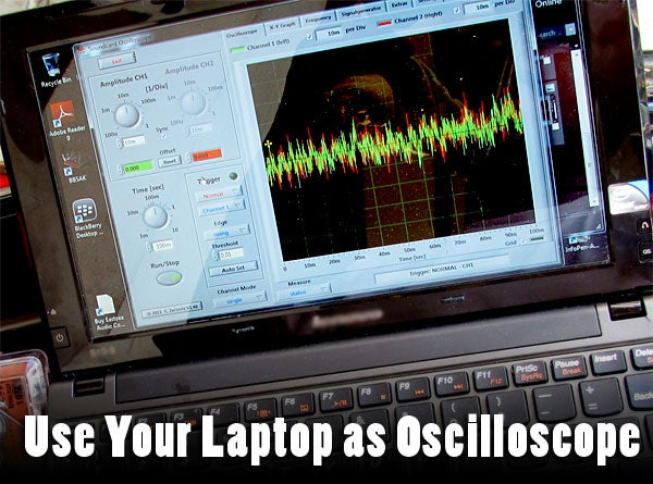 Use Your Laptop As Oscilloscope