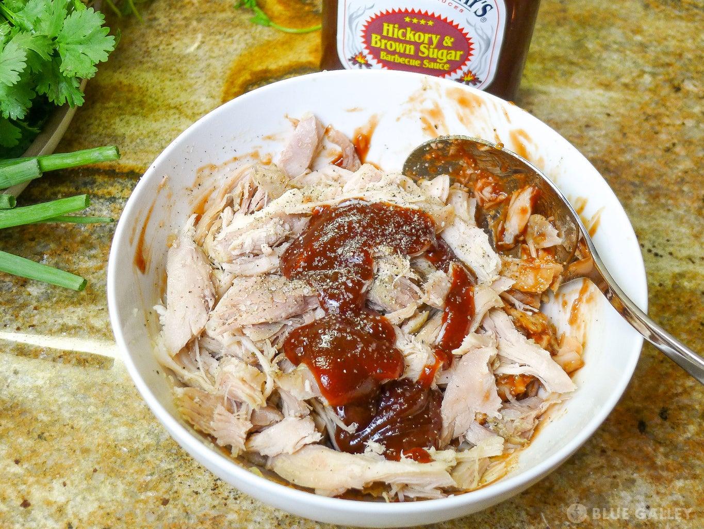 Add BBQ Sauce to Chicken
