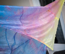 How to Dye a Parachute for Photography and Play Silks
