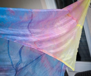如何为摄影和游戏丝绸染成降落伞