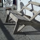 Salvaged wood, Garden Lazy lounger