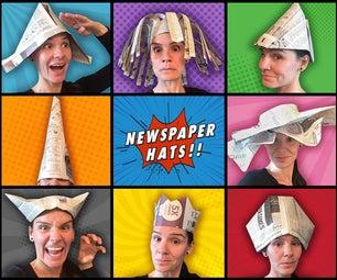 8 Simple Paper Hat Tutorials