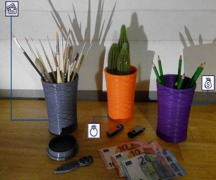 3D PRINTED Treasure Planters With Secret Container ;-)