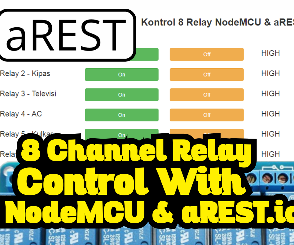 8 Channel Relay Control With NodeMCU & AREST.io