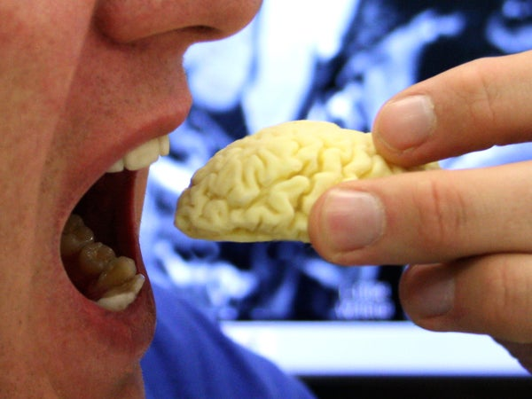 Edible Chocolate Brain From MRI Scan