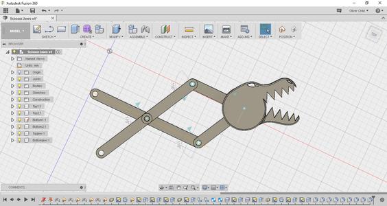 Designing Scissor Jaws in Fusion