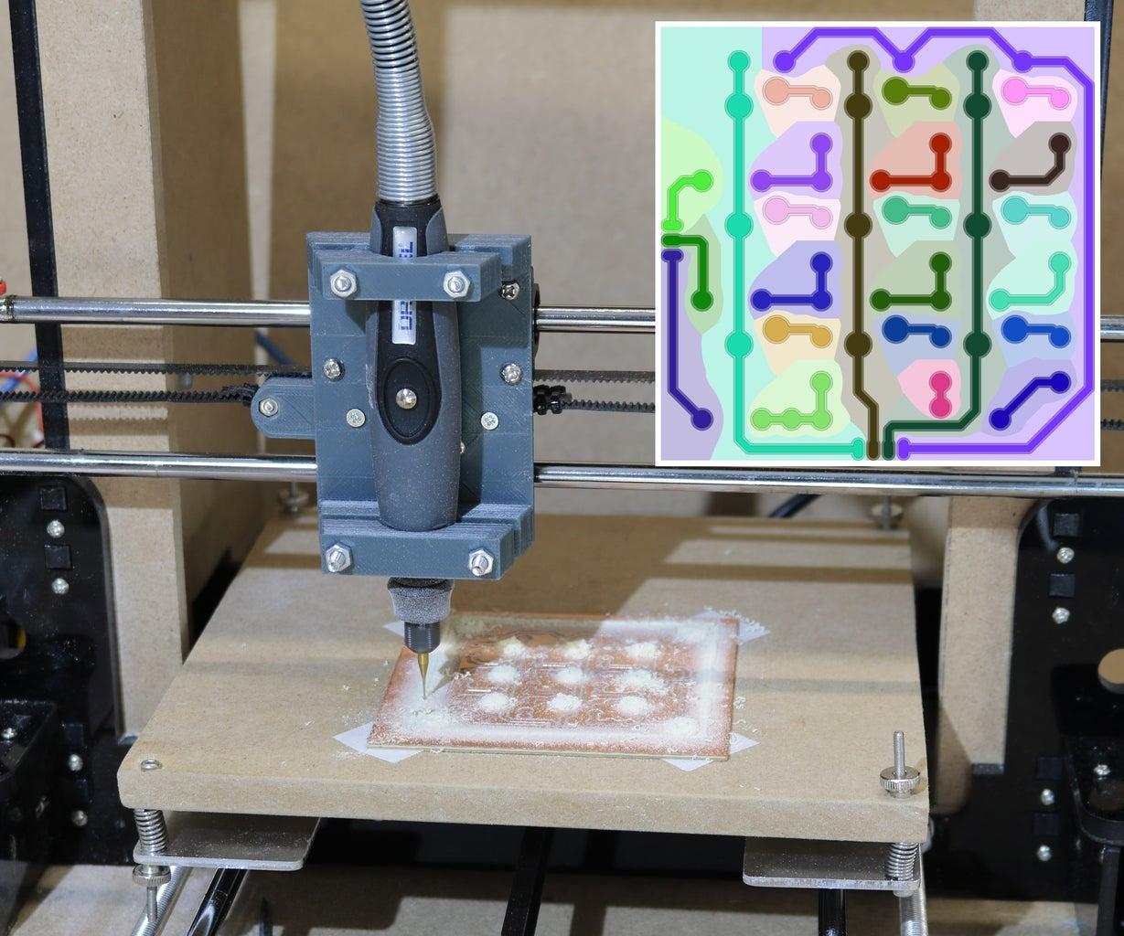 PCB Milling Using a 3D Printer