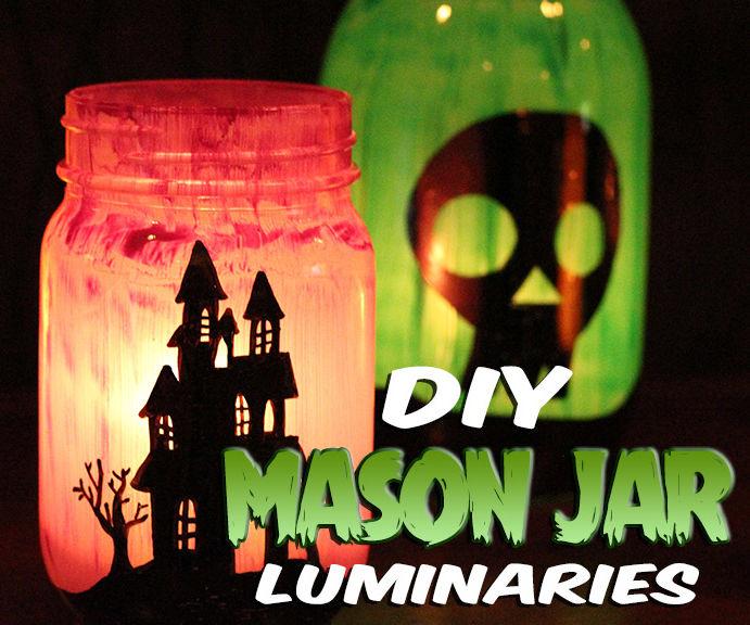 DIY Mason Jar Luminaries