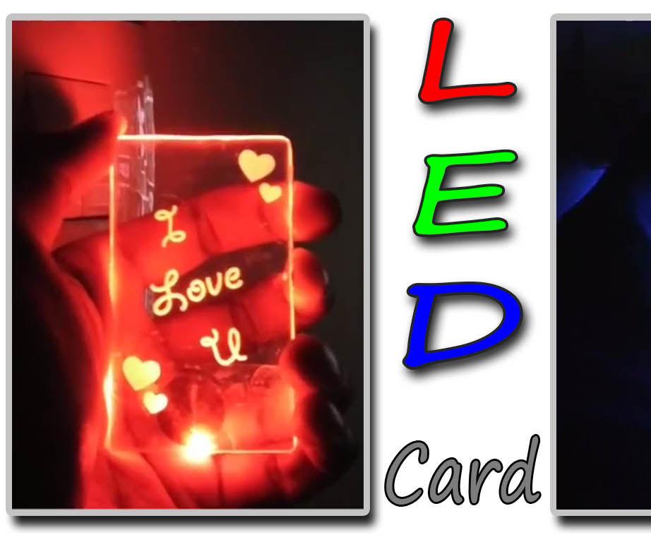 Laser Engraved Led Card