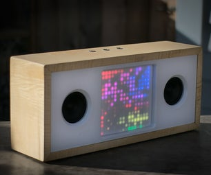 Bluetooth Speaker W/ Music-Reactive LED Matrix