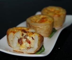 Potato-Skin Mini-Quiches