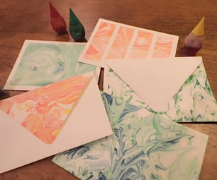 Paper Marbling With Food Dye and Shaving Cream