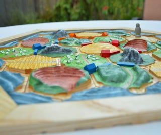 Solid Wood 3D Catan Board