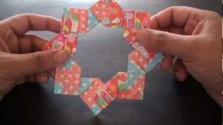 How to Make an Origami Modular 8 Unit Star (Ring)!