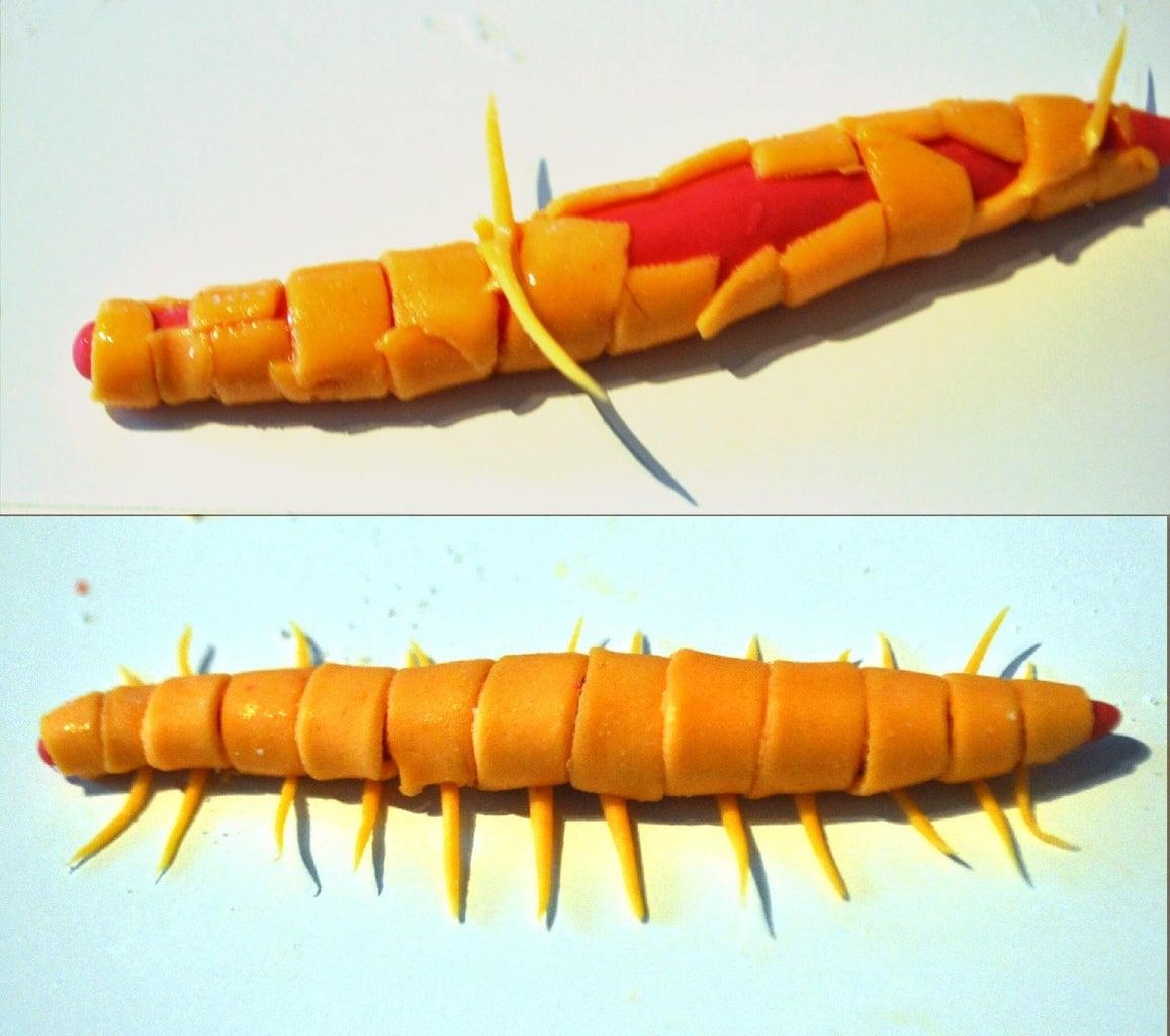 How to Sculpt a Fondant Centipede