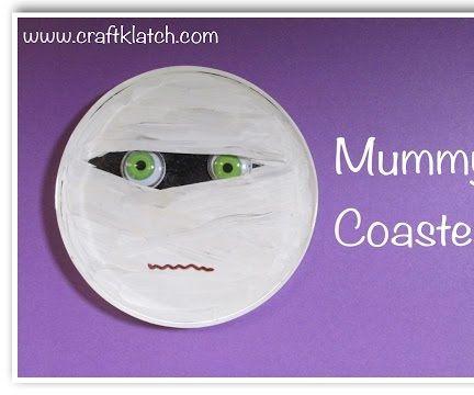 Halloween Mummy Coaster DIY