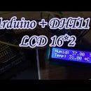 Temperature and humidity sensor and lcd