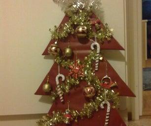 Last-minute Kitty-safe Cardboard Christmas Tree